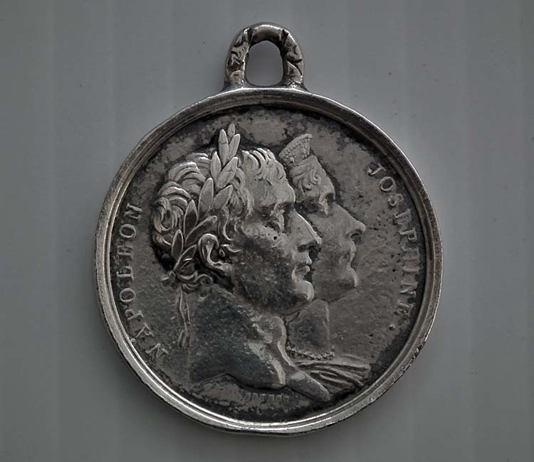 SOLD Antique 1804 -1814 Napoleonic First Empire Silver Medal Napoleon I Coronation Celebrations