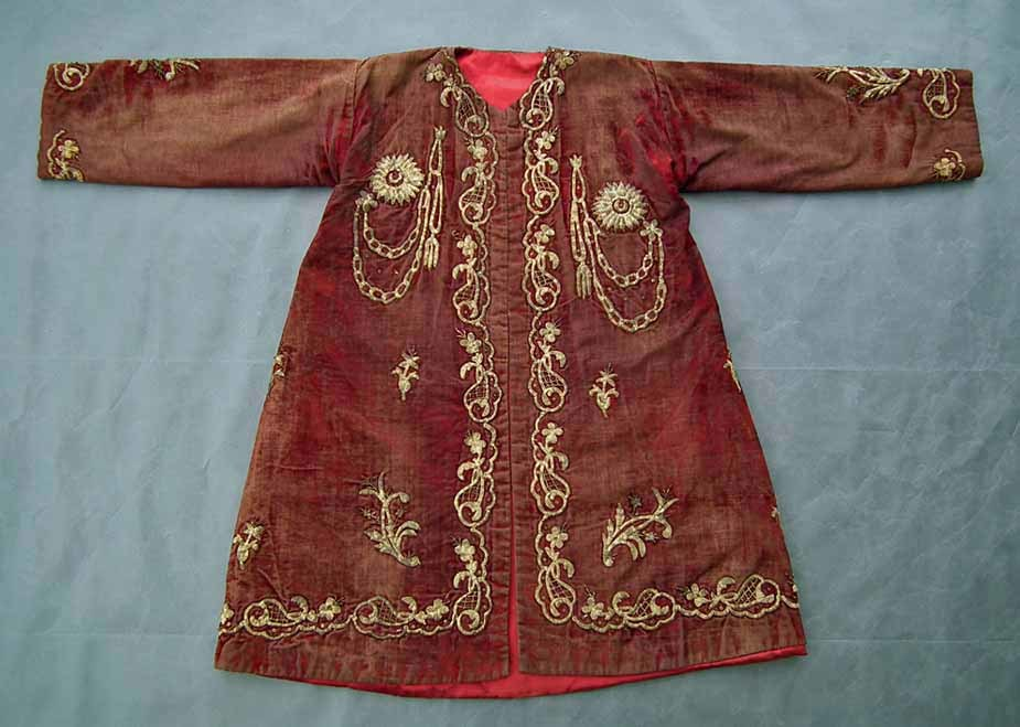 SOLD Antique 18th - 19th Century Imperial Turkish Ottoman Gold Embroidered Court Robe Kaftan