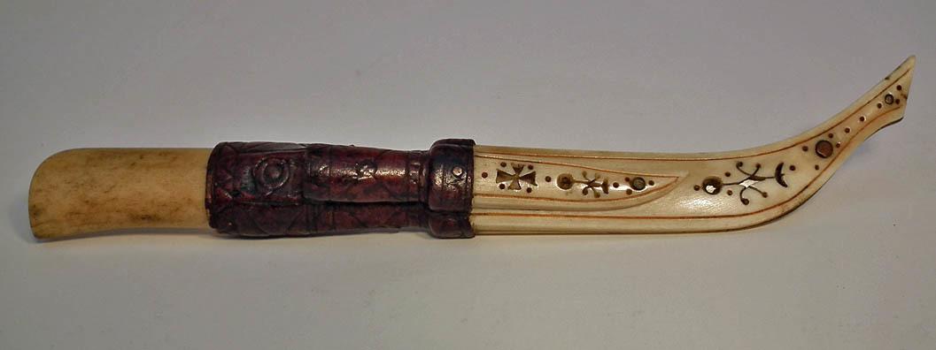 SOLD Superb Quality Antique Scrimshaw Finnish Knife Puukko