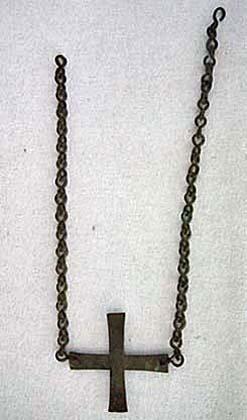 SOLD Ancient Greek Byzantine Bronze Crucifix Cross circa 5th -7th century A.D.