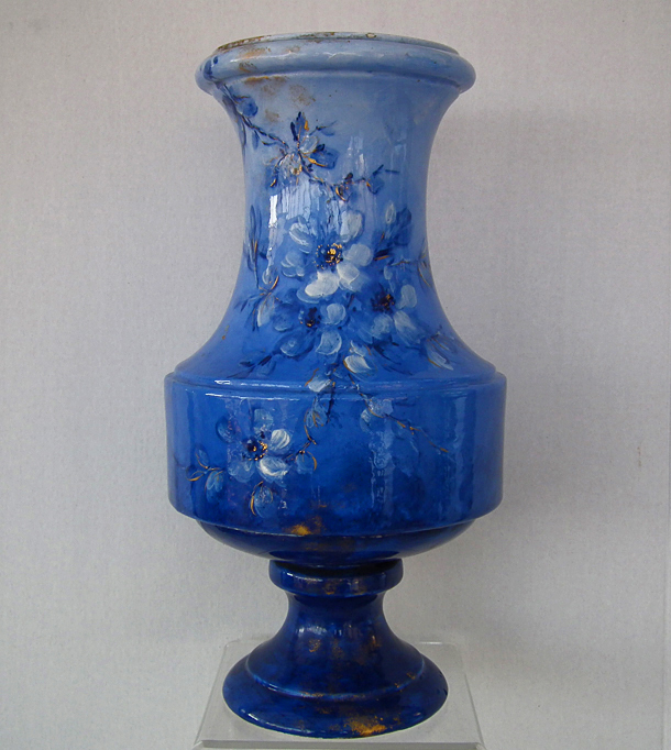 SOLD Rare Antique 19th Century 1882 French Longwy Ceramic Vase By Emmanuel Kilbert