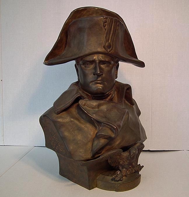 SOLD Antique 19th Century Large Bronze Sculpture Bust of Napoleon By R. Colombo 1885