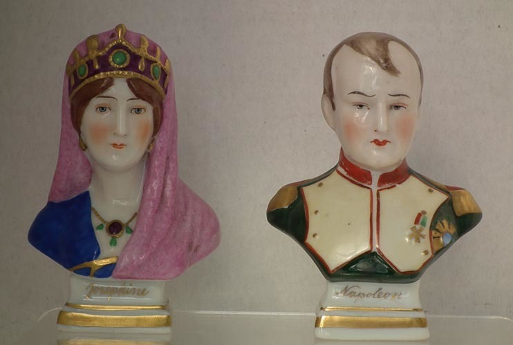 SOLD Pair Of European Porcelain Busts -Napoleon and Josephine