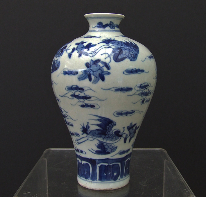 Antique Chinese Qing Dynasty 1644 1911 Ad Blue And White