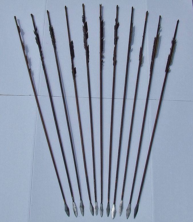 SOLD Rare Set Of 11 Antique Chinese Qing dynasty Mongolian Tibetan 17th -19th Century Bow Arrows