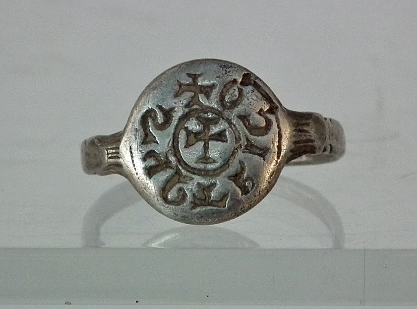 SOLD Antique Medieval 12th-13th century A.D. Silver Ring Crusades Armenian Kingdom Of Cilicia