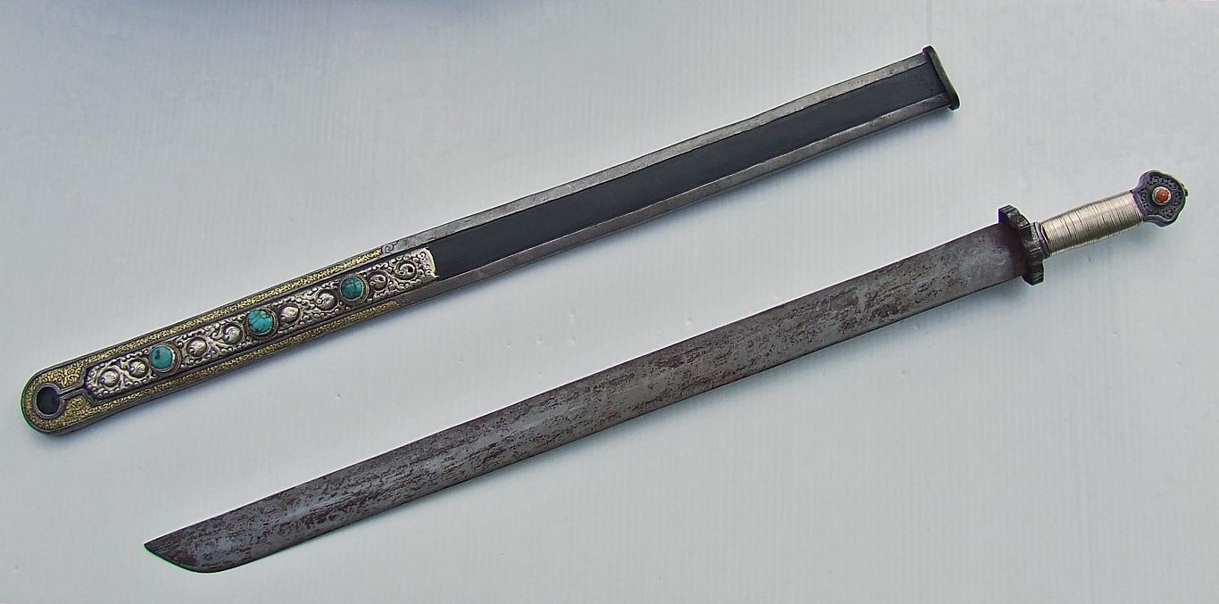 SOLD Antique large Tibetan Sword Dpa'Dam 18th-19th Century Tibet