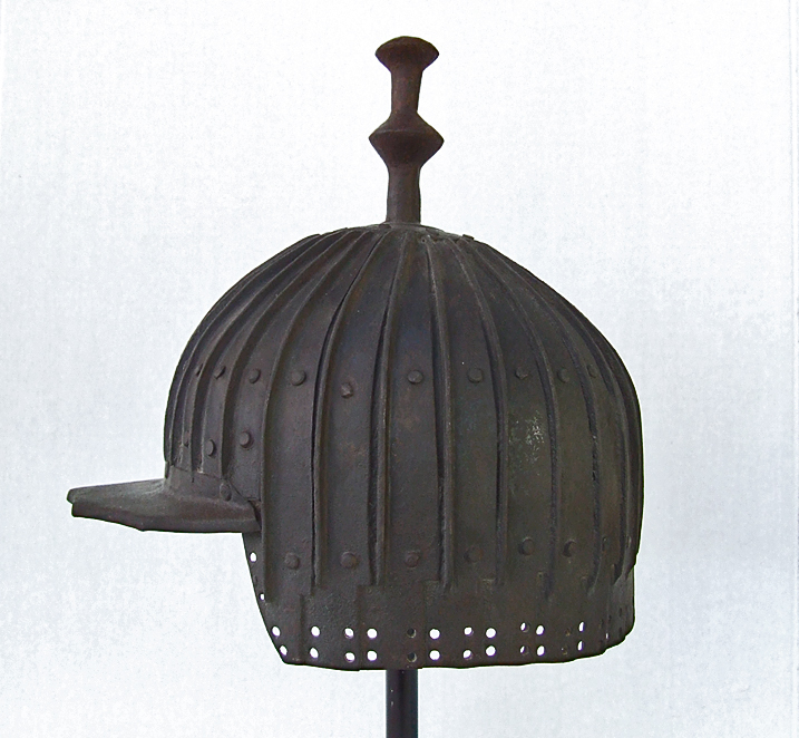 SOLD Antique  17th - 19th Century Tibetan Multiplated Helmet Of  30 Plates Tibet