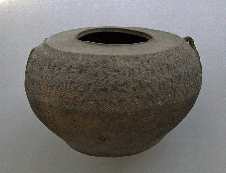 SOLD Ancient Chinese Han Dynasty B.C.206 - A.D.220 Grey Pottery Jar