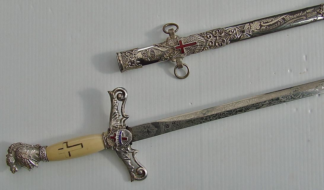 SOLD Antique American Masonic Knights Templar Lodge Sword