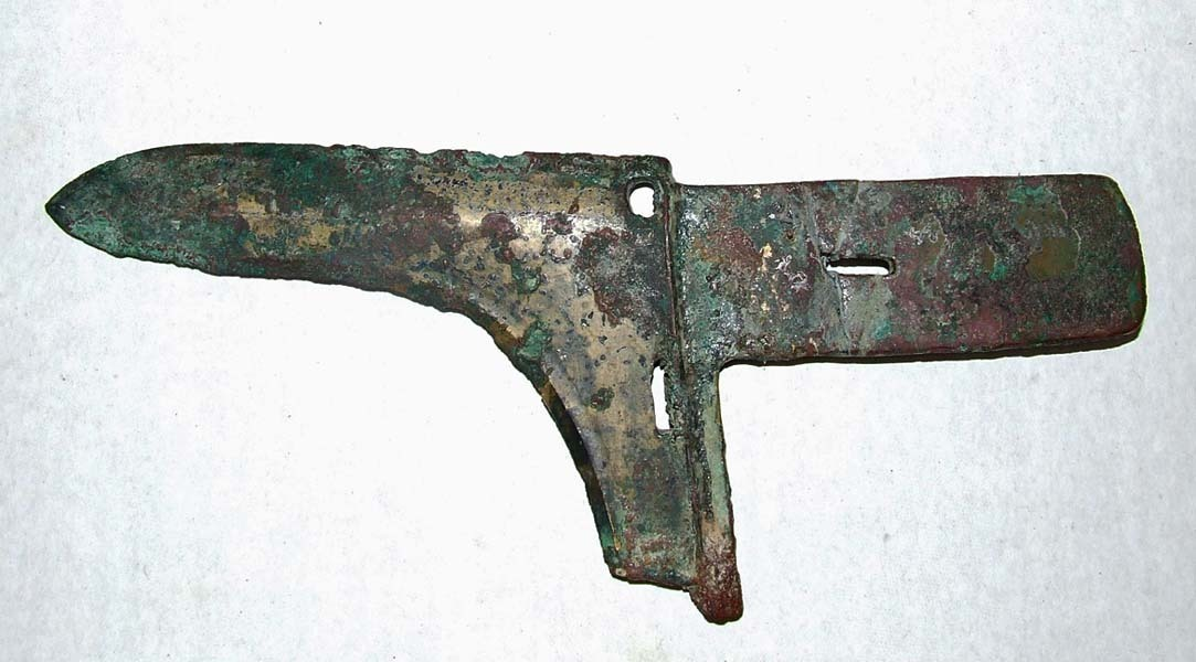 SOLD Ancient Chinese Eastern Zhou (770-476 B.C.) Bronze Ge Dagger-Axe Halberd Blade