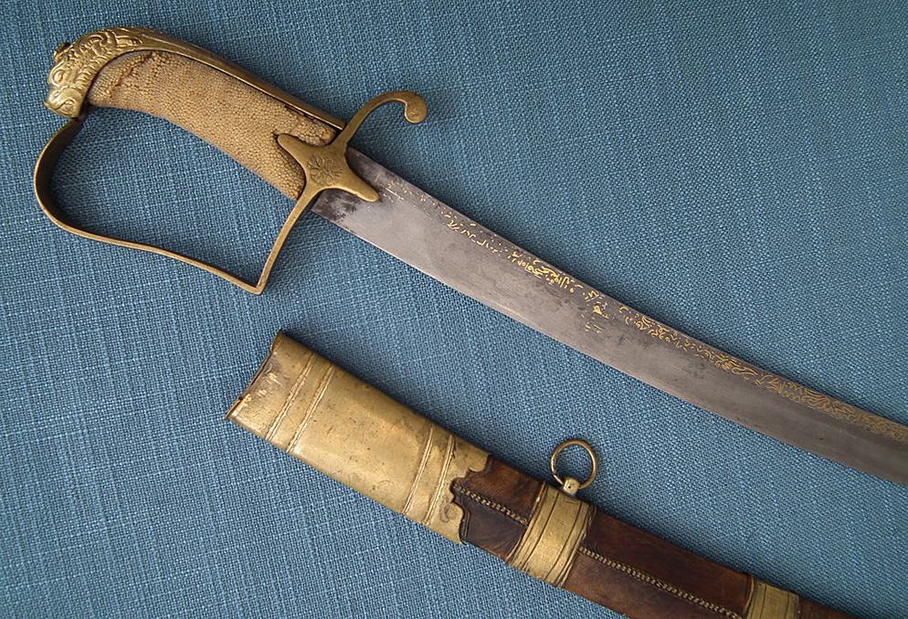 SOLD  Antique 18th Century Russian Hussar Sword With 17th century Crimean Tatar Czeczuga Ordynka Blade