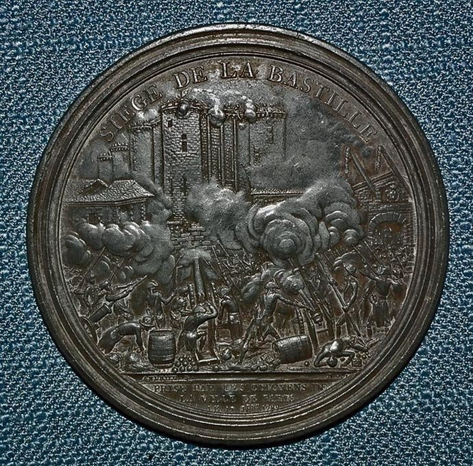 SOLD Antique 1789 Pre-Napoleonic Medal French Revolution Siege Of the Bastille by Andrieu