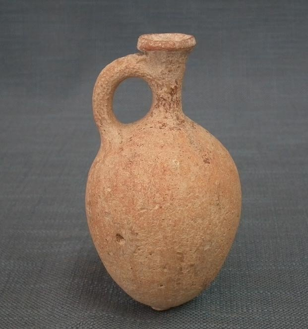 SOLD Ancient Holy Land Pottery ca. 1000 BC Time of King David Terracotta Perfume Flagon