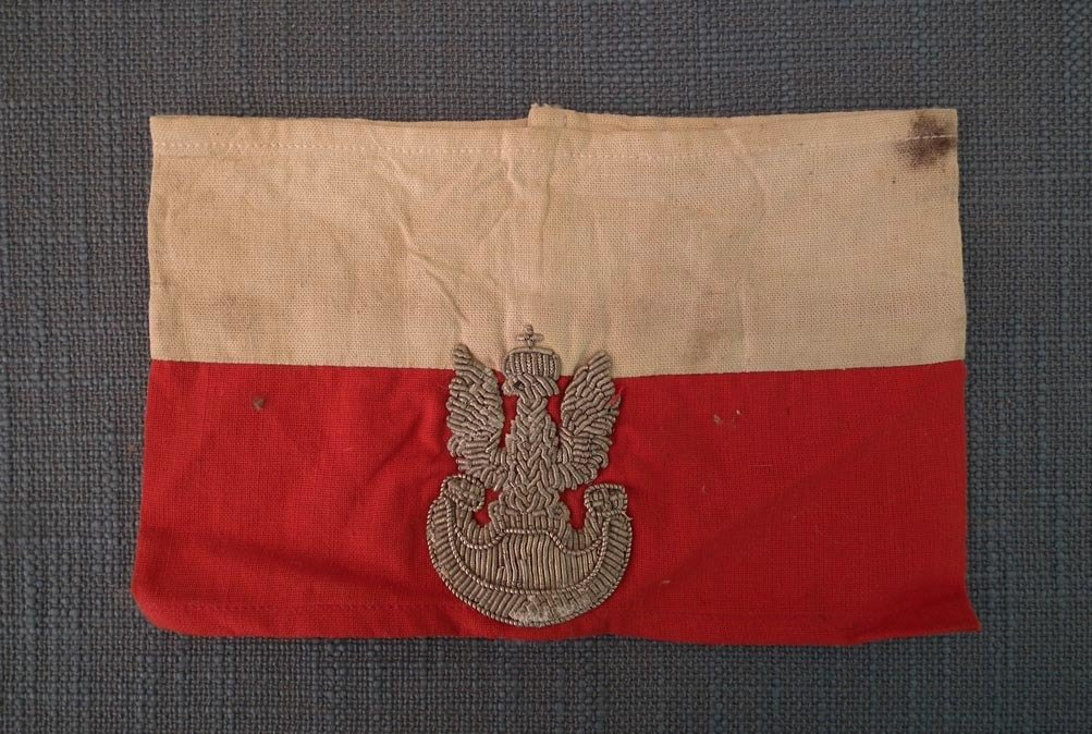 SOLD Authentic World War II Polish Home / Resistance Army Officer's Armband