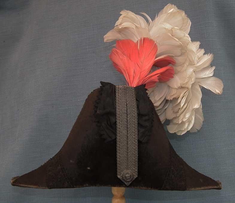 SOLD Antique 19th Century British English Victorian Cocked Hat Bicorn