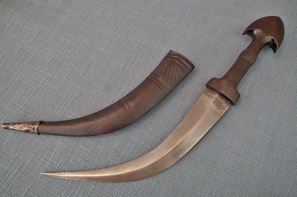 SOLD Antique 19th Century Islamic Middle Eastern Iraqi Dagger Jambiya Marsh Arabs