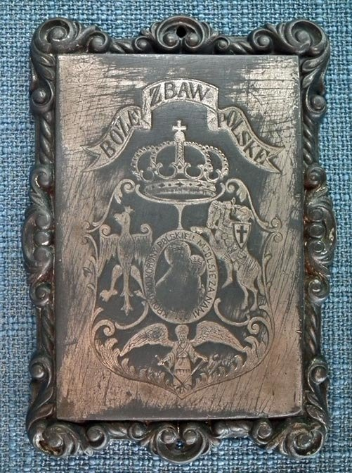SOLD Antique Polish January Uprising 1863 – 64 Plaque Polish Lithuanian Ruthenian Commonwealth