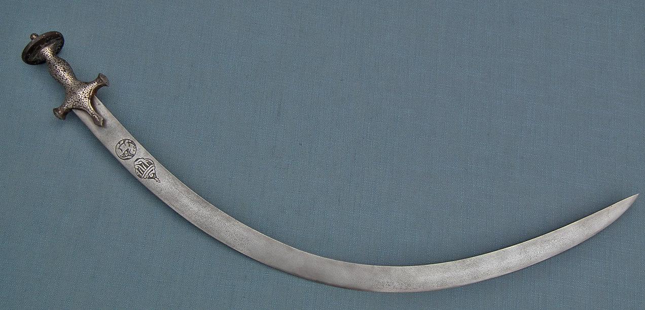 SOLD Antique 18th century Islamic Mughal India Indo Persian Sword Talwar Shamshir With Hindu Script