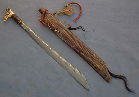 SOLD Antique Mandau Sword Head Hunters Dayak 19th century