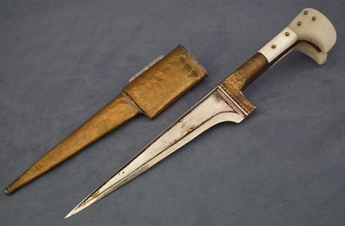 SOLD Indo Persian Islamic Afghan Dagger Pesh kabze Choora