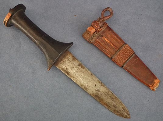 SOLD Antique Mahdist Sudanese Islamic Arm Dagger