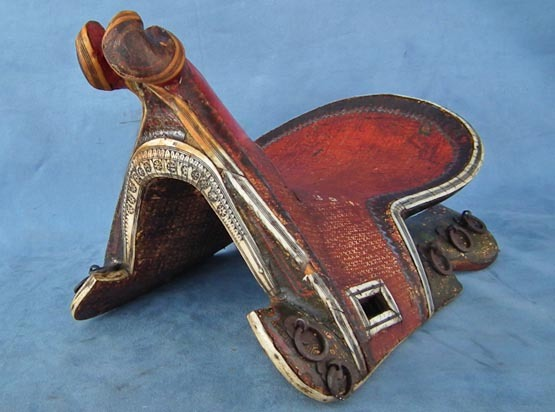 SOLD Antique Islamic Turkish Ottoman or Persian saddle 17th/18th century