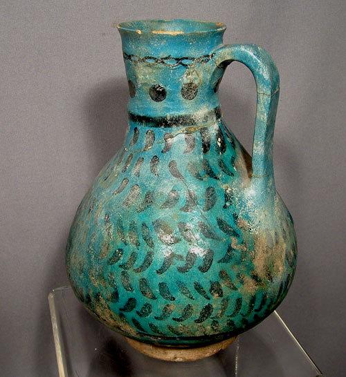 SOLD Persian Medieval Islamic Seljuk Kashan Jug 13th century