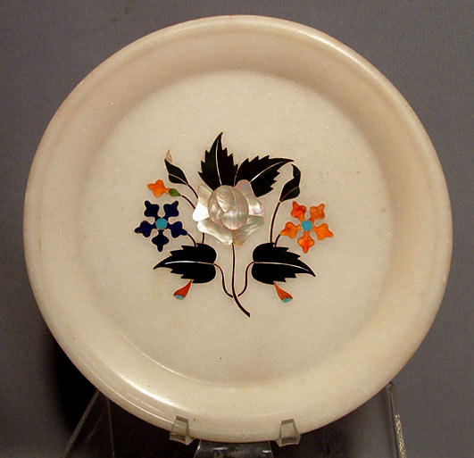 SOLD Antique Islamic Indian Mughal Marble Plate 18th century