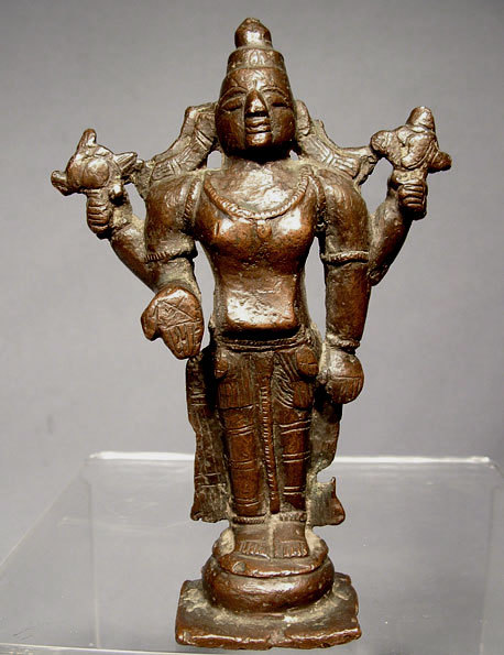 SOLD Indian Bronze figure of Vishnu 17th century
