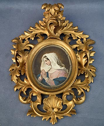 SOLD Antique early 18th -19th century Painting of Virgin Mary