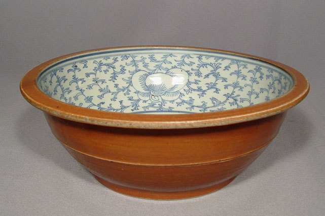 SOLD Antique Chinese Blue White Porcelain Large Bowl 19th century