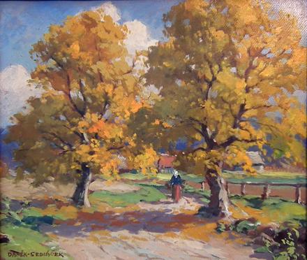 SOLD Czech landscape oil painting by Czech Painter Frantisek Danek - Sedlacek