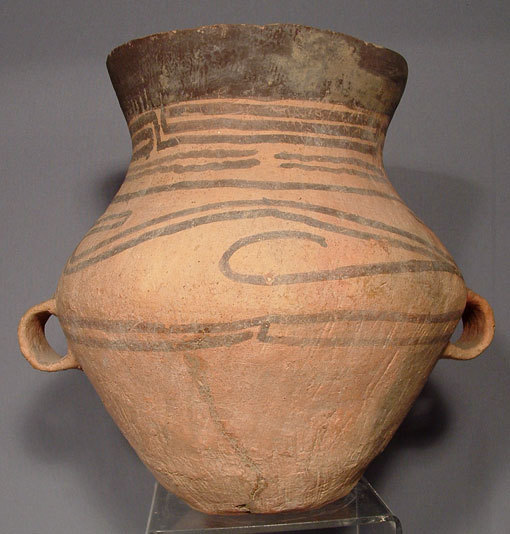 SOLD Antique Chinese Pottery Neolithic Large Ceramic Amphora