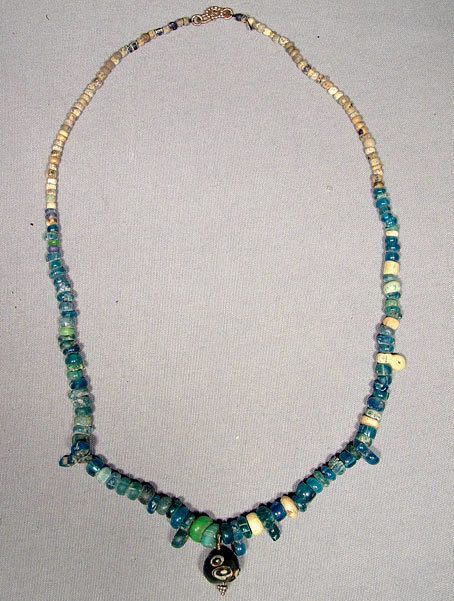 SOLD Ancient Glass Beads Necklace Roman 2nd-3rd century AD