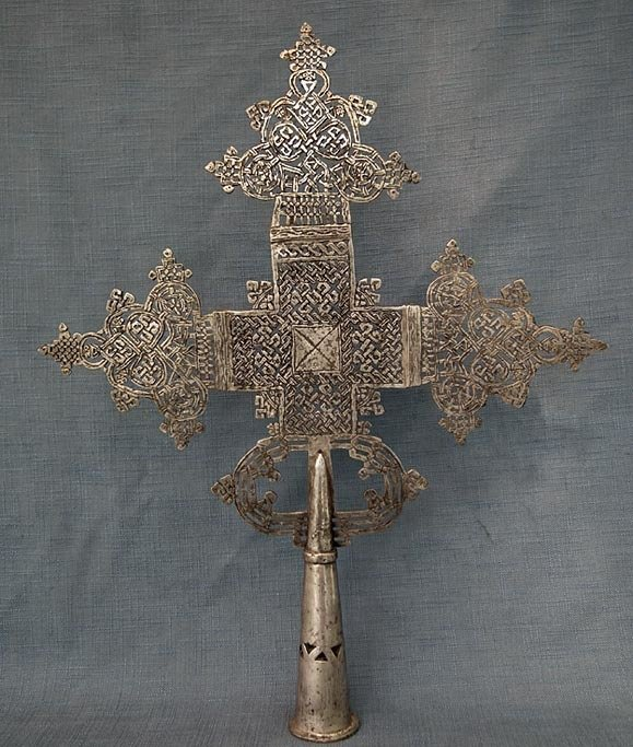 SOLD Large African Ethiopian Abyssinian Coptic Orthodox Processional Cross