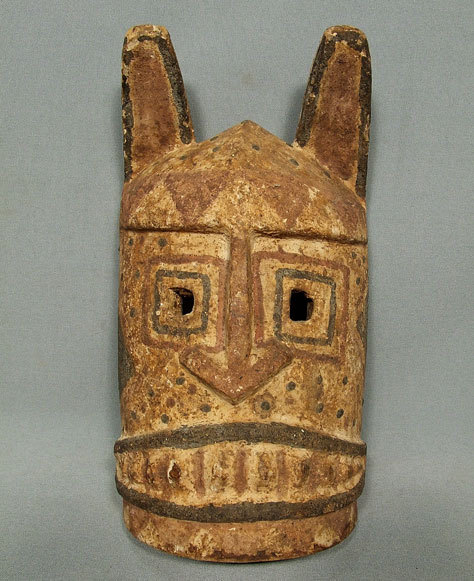 SOLD Antique African Wooden Mask Mali