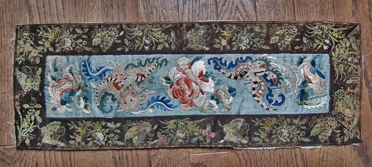 SOLD Antique Chinese Qing Dynasty Embroidery Art Panel