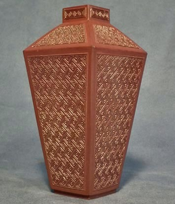 SOLD Antique Chinese Qing Dynasty Yixing ceramic square Vase