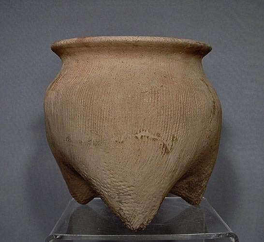 SOLD Antique Chinese, Shang Dynasty (14th -11th century .BC.) Earthenware 'Li' Tripod Vessel