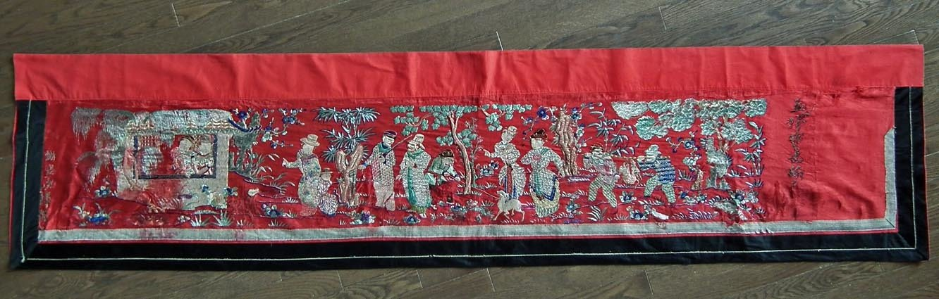 SOLD Large Antique 19th Century Chinese Qing Dynasty Embroidery