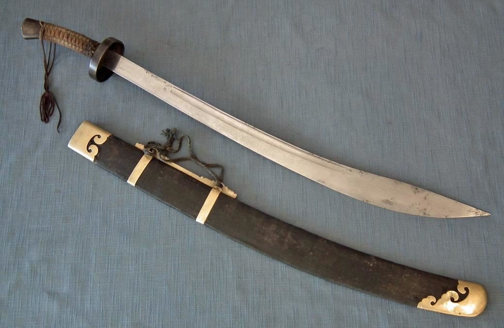 SOLD Exceptional Antique 19th Century Qing Dynasty Chinese Sword Dao