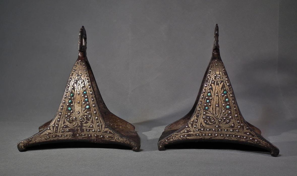 SOLD A Pair Of Antique 17th – 18th Century Islamic Turkish Ottoman Stirrups