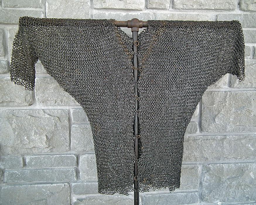 SOLD Antique Medieval 14t/15th Century European Knight Chain Mail Shirt Hauberk Armour