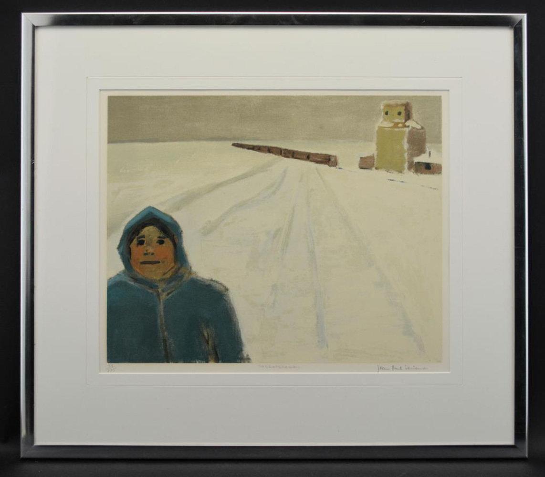 "SOLD Jean Paul Lemieux (Canadian, 1904-1990) ""Saskatchewan"" Screen Print Signed"