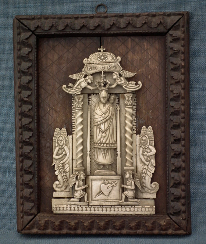 SOLD Antique 17th-18th Century Indo – Portuguese Relief Our Lady of Loreto Goa India