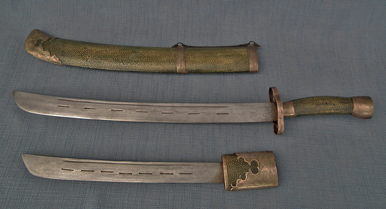SOLD Antique Chinese Qing Dynasty Double Bladed Sword Dao