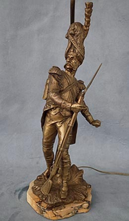 SOLD Antique Napoleonic Bronze Sculpture Napoleon's Grenadier by Luca Madrassi