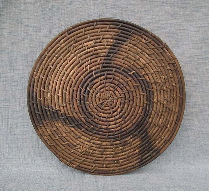 SOLD Antique 18th -19th Century Qing Dynasty Chinese Rattan Shield Teng Pai