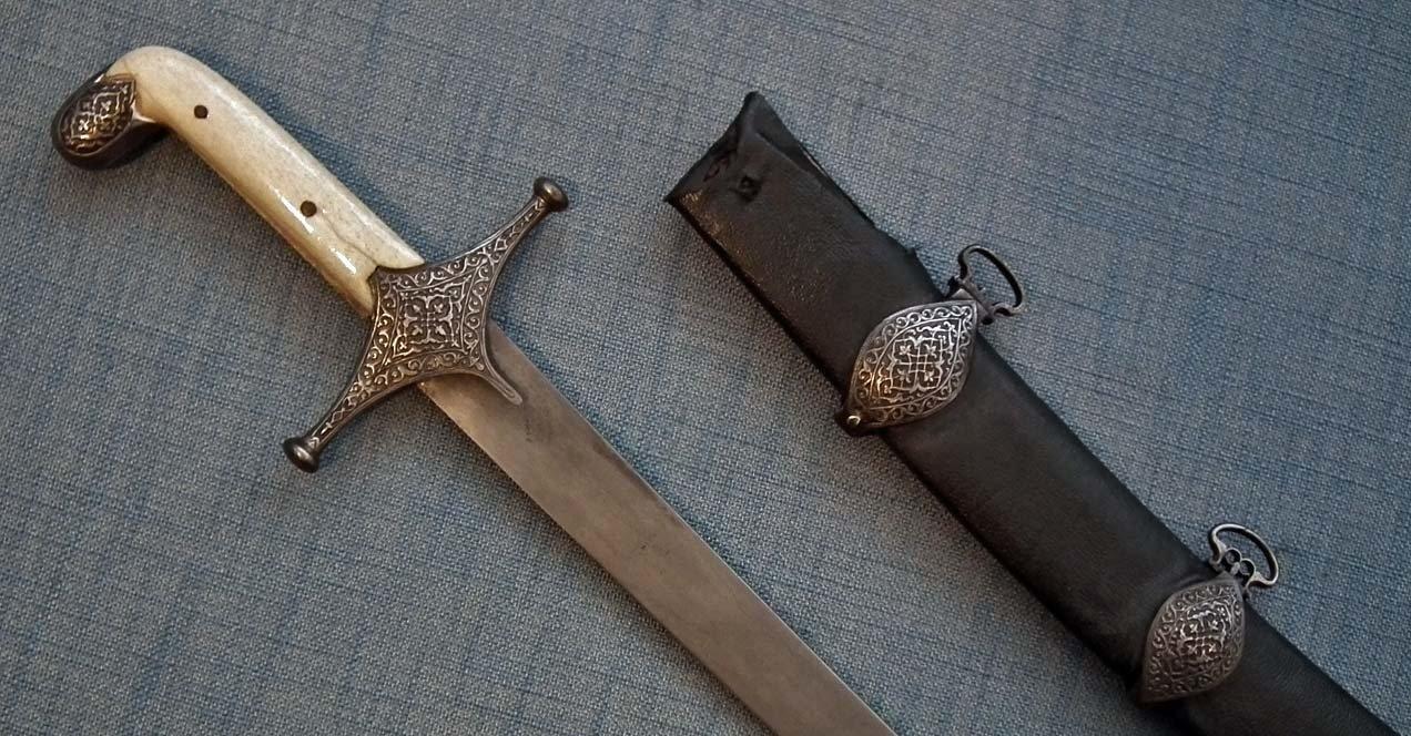 SOLD Antique 17th-18th century Islamic Indo Persian Damascus Steel Wootz Sword Shamshir